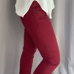 Seven7 Red Jeans Skinny